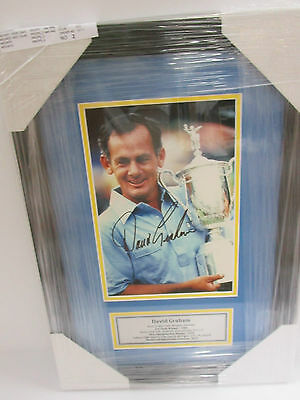 David Graham Hand Signed 8X12 Golf Photo Framed With Plaque + Photo Proof C.o.a