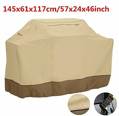 """57"""" BBQ Grill Cover Durable Gas Barbecue Storage Heavy Duty Waterproof Outdoor"""
