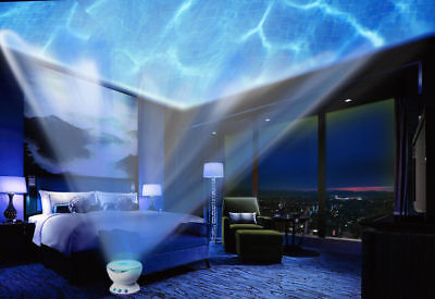 Dream Wave LED Night Light Blue Lamp Ocean Wave Effects Projector Relaxing New