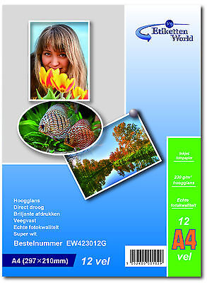 100 sheets Professional Photopaper For Inkjet Printer -230gsm | A4 size by EW