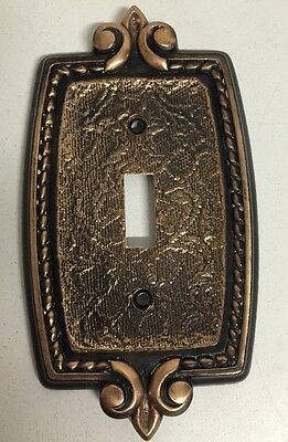 Vintage Amerock Bonaventure Single Toggle Light Switch Cover Plate Brass