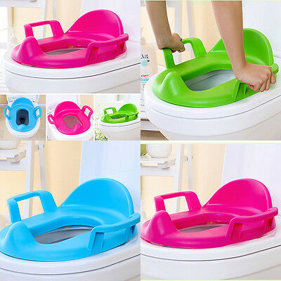 Baby Children Toilet Seat Padded Handles Toddler Soft Kid Training Potty Cushion