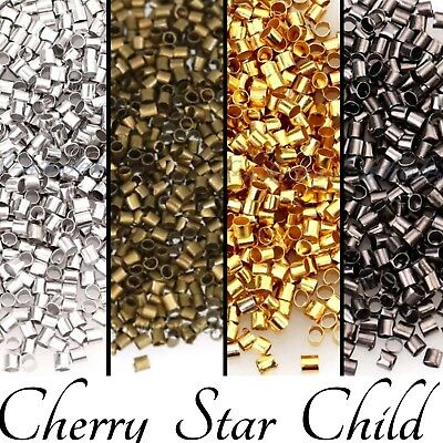 200+ gold silver lack crimp beads for pendant earrings necklace crafts findings