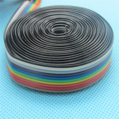 5meter Rainbow Ribbon Cable Flat Ribbon Cable 10 WAY Color Wire 10P 1.27MM pitch
