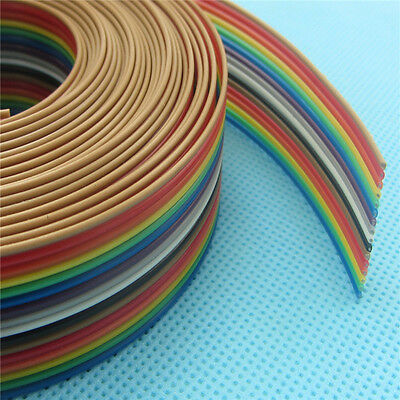5meter Flat Ribbon Cable 16 WAY Color Rainbow Ribbon Cable Wire 16P 1.27MM pitch