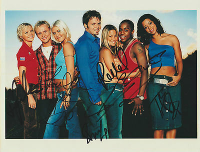 *signed*  S Club 7 - 8X10 Photo  (Reach / Bring It All Back)  Autographed