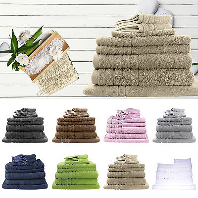 8 Pieces Bath Towels Set Egyptian Cotton 620GSM Spa Quality Multi-Colours