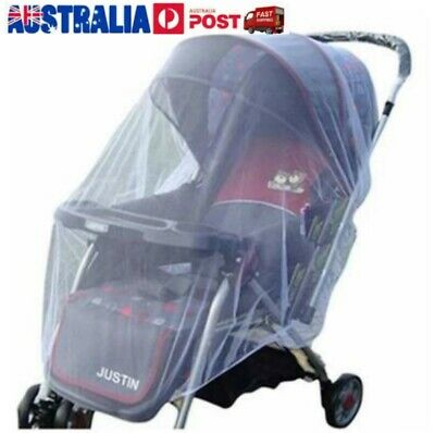 AU Seller Mosquito fly insect sun dust protect cover net mesh Pram Stroller J9