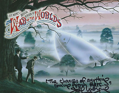 *signed*  Jeff Wayne - 8X10 Photo  (War Of The Worlds)  Autographed