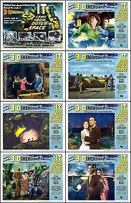 IT CAME FROM OUTER SPACE Complete Set Of 8 Individual 8x10 LC Prints 1953