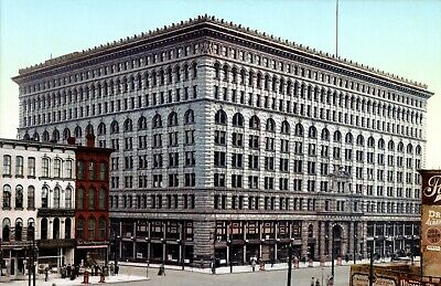 """1900 Prudential Building Buffalo New York Old Photo 13/"""" x 19/"""" Reprint"""