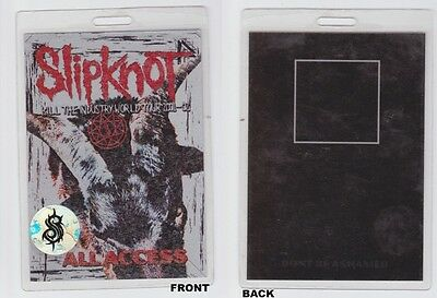 SLIPKNOT Kill The Industry 2001-2002 - All Access - Backstage Pass -  Laminate