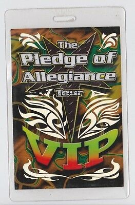 SLIPKNOT The Pledge Of Allegiance Tour 2001 - Backstage Pass -  System Of A Down