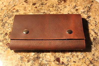Leather Fly Wallet - Fly Book, Custom made in the USA