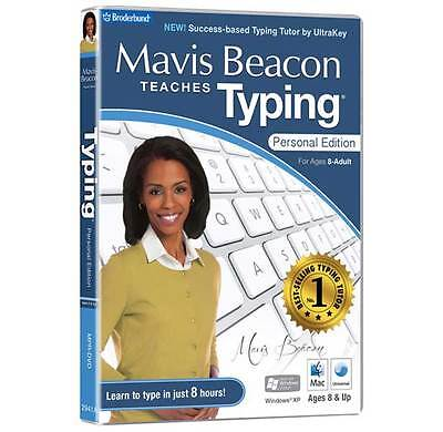 Mavis Beacon Teaches Typing Personal Edition PC DVD ROM - New