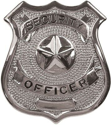 Silver Security Officer Shield Badge