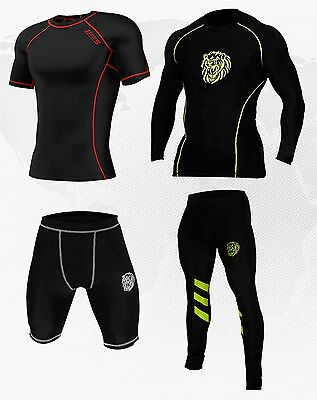 Mens Compression Base Layer Under Wear Top, Tights, Shorts Gym Armour