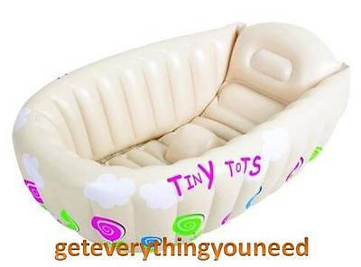 Small Baby Infant Inflatable Bath Tub Travel Portable Temperature Warning System