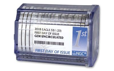 2017 First Day Of Issue 1 oz .999 Silver American Eagle NGC Gem Roll (20 Coins)