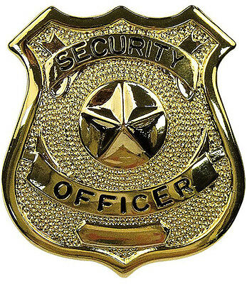 Gold Security Officer Shield Badge