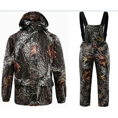 Men Outdoor Sports Autumn Hunting Suit Clothing Camo Fishing Jacket Trousers Hat
