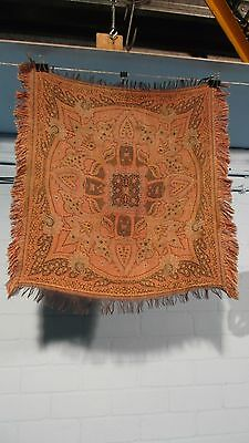 Antique Dutch Arts & Crafts Paisley Shawl Or Bietkleed 5