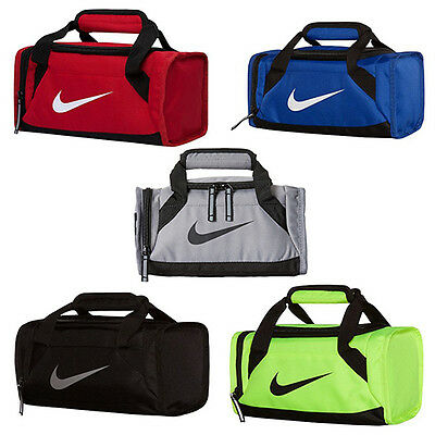 Nike Small Mini Duffel Lunch Tote Bag Back To School College Dorm Kids Cooler