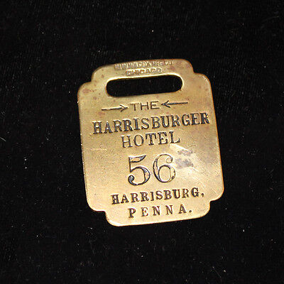Vintage Harrisburger Hotel Luggage Fob