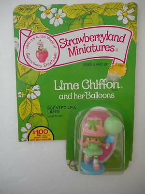 Vintage Strawberryland Miniatures Lime Chiffon her Balloons Mint On Card 1982