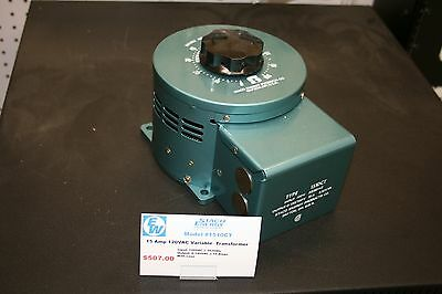 Staco Energy® 1510CT Variable Transformer - Output: 0-140VAC@15A - Input:120VAC