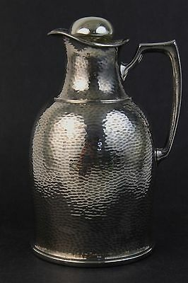 Antique Landers Frary Clark Silver Plate Mercury Glass Pitcher
