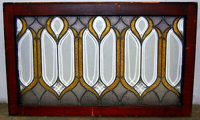 Antique 1890s Beveled and Leaded Stained Glass Window,  Architectural Salvage