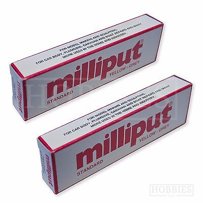 2 Packs Milliput Standard Terracotta Black White Model Repair Filler Epoxy Putty