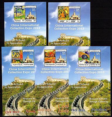 Oceania Region 2013 China Int. Collection Expo MNH --(cv 25)