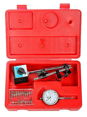 Dial Indicator Set with On/Off Magnetic Base Point Precision Inspection Set
