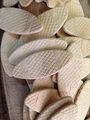 Wood Joiner Biscuits Size 20  Pack of 50 Euro Beech And Maple