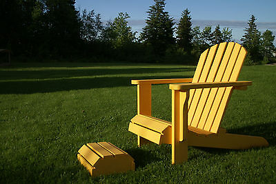PLANS to build beautiful strong Adirondack style patio/lawn/deck chair.  (Large)