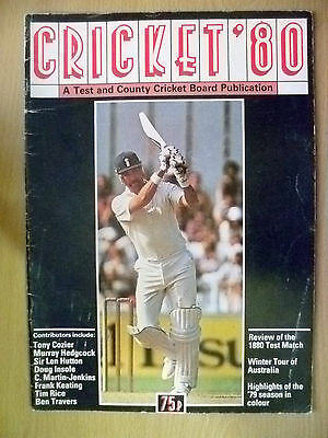 Cricket- 1980 A Test & County Cricket Board Publication