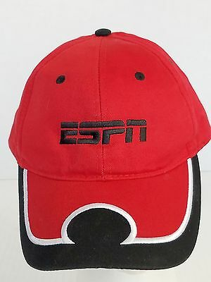 ESPN Red and Black Ball Cap Hat