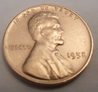 1958 P Lincoln Wheat Cent / Penny **Free Shipping**
