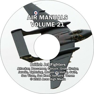 British Jet Flight manuals on CD Meteor, Javelin, Hunter, Sea Vixen, and more
