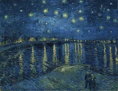 Canvas Print Wall Art Starry Night Over the Rhone Van Gogh Painting Repro Framed