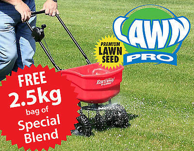 EarthWay 12KG Seed Spreader & Free 2.5kg Lawn Pro Special Blend Lawn Seed