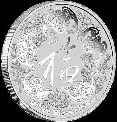 2016 FIVE BLESSINGS 1oz SILVER COIN
