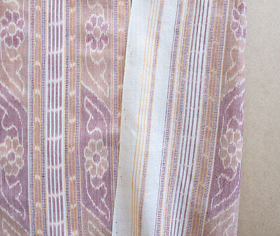 Maroon, Cotton Ikat. Hand-Dyed & Hand-Woven Fabric. Orissa India Homespun