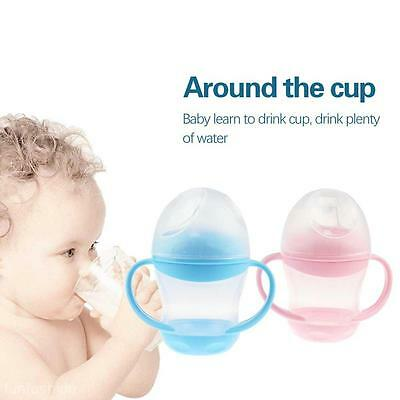 160ML Baby Infant Feeding Bottle No-Spill Water Milk Soft Duckbill Sippy Cup NEW