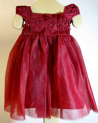 cd11eee8a1ea NWT Baby Biscotti Gorgeous Burgundy Red Unforgettable Dress 9M 12M Holidays