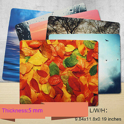 5mm Super Thick Rubber Mouse Pad with Ultra Clear Scenery Patterned Printed
