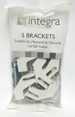 5 x Integra Decorail Monorail Plastic curtain Track Rail Brackets