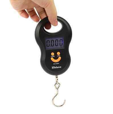 Pocket Precision Mini 50kg/5g LCD Digital Hanging Luggage Weight Hook Scale au